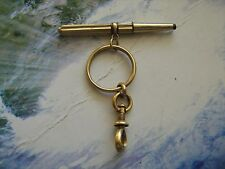 Antique solid 18k gold pendant watch winding key,original XIX century,not bulgar