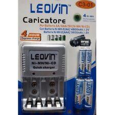 caricabatterie stilo - ministilo con 4 batterie ricaricabili in omaggio