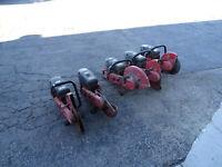 Lot of 5 Broken Hilti DSHS64 Gas Concrete Saws FOR PARTS REPAIR