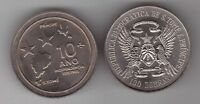 ST TOME THOMAS & PRINCE - RARE 100 DOBRAS UNC COIN 1985 KM#42 10th INDEPENDENCE
