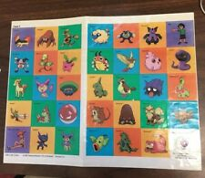 Color PokémonStickers2 pages with a total 34 stickers