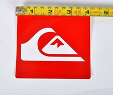 "LARGE QUIKSILVER BOARD SHORTS STICKER 4"" X 4"" $2 Red Wetsuit Rashguard"