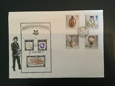 GB 1987 Studio Pottery FDC 'National Trust' brand Tintagel Pmk (F260)