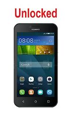 "Unlocked Huawei Y5 4G+ 4.5"" Black 5MP Quad Core Android 5.1"