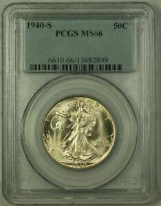 1940-S Walking Liberty Half Dollar 50c Silver Coin PCGS MS-66 *Well Struck* JAB