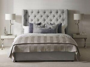 FABRIC/ VELVET GREY BED: Velvet Handmade Upholstererd Single/Double/Kingsize uk
