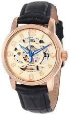 Stuhrling 107EL 114531 Womens Classic Delphi Rose-Tone Automatic Skeleton Watch