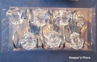 12 Mineral House Design Shiny Knob Faux Crystal Clear Acrylic Shower Hooks New