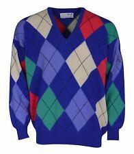 Mens Nick Faldo Pringle Sports Golf 100% Wool Jumper Sweater Size XXL