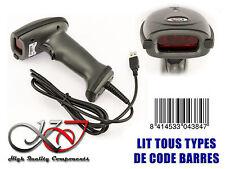 Lecteur Douchette Scanner CODES A BARRES - USB - LASER