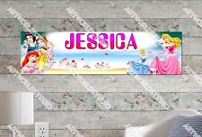 Personalized/Customized Disney Princess 2 Name Poster Wall Art Decoration Banner