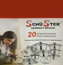 Cookware Battery Steel Germany Design 20 pieces
