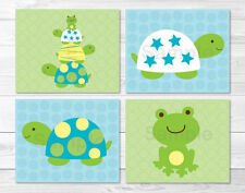 Turtles & Frogs Pond Pals Printable Nursery Wall Art