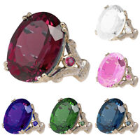 EG_ Huge Ruby Topaz Wedding Engagement Jewelry Woman's Gift Ring Size 5-12 Dream