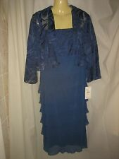 Laura K NWT Elegant Stretchy Occasion Dress & Jacket Size 12-14