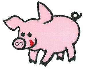 Écusson patche Cochon PIG thermocollant applique patch DIY brodé