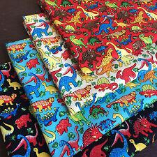 Dinosaur Kids Prints 100% Cotton Fabric *Fat Quarter Bundle* For Craft,Patchwork