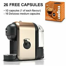 Lavazza Minu Plus 1800003 Champagne Compact Coffee Maker Hot Drinks +26 Capsules