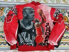 Michael Jordan Chalk Line Fanimation Chicago Bulls Vintage Jacket Mens Sz M 90s