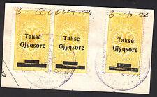 1926. Albania Revenue Court Stamps.