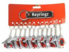 MINI TAPE MEASURE 1M / 3FOOT KEYRING KEY CHAIN MEASURING RULER 12PC SILVER