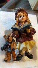 Boyds Dollstone Christmas Ornament Megan with Elliot and Annie Carol 1995