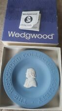 Wedgwood Blue Jasperware Collector's Society Mini Decorative Plate W/ Box