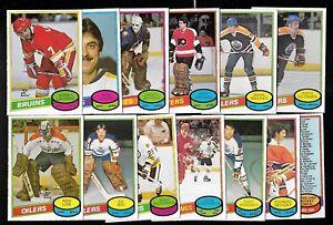 1980-81 OPC 80-81 O PEE CHEE NHL HOCKEY CARD & ERROR VARIATION 265-396 SEE LIST