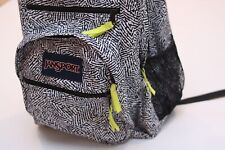 Jansport Black And White Backpack Book Bag Student Day Pack TDN7