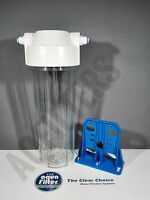"Aquafilter 10"" Water Osmosis Filter Housing With Push Fit 1/4"" Connectors RO DI"