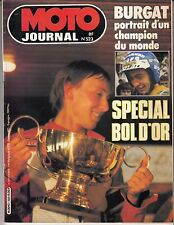 "MAGAZINE MOTO JOURNAL N° 523 SEPTEMBRE 1981 ""SPECIAL BOL D'OR"""