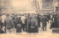 CPA 51 L'INVENTAIRE A SAINT BENOIT REIMS 1906 UNE BAGARRE PRES DE L'EGLISE