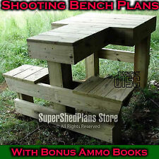 Professional Shooting Bench Plans, Build Your Own Bench, Ammo Books! PDF CD E51