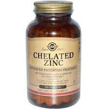 NEW SOLGAR CHELATED ZINC ANTIOXIDANT SKIN IMMUNE SYSTEM SUPPORT GLUTEN FREE CARE