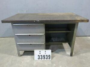 Werkbank Werktisch Arbeitstisch Packtisch Retro Vintage Loft Industrie Art#33939