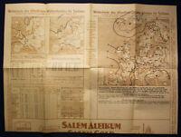 Original Wetterkarte des öffentlichen Wetterdienstes Sachsen 1924 Saxonica sf