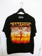 Vtg 2010 Testament T-shirt Made in USA Men's Black Size (L)