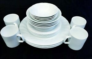 27 piece white Dinner set with serving wares