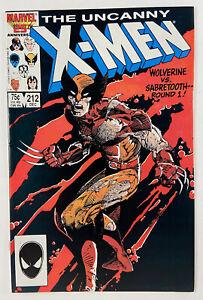 Uncanny X-Men 212 Wolverine vs Sabretooth Near Mint+ NM+ (9.4)