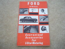 1955 VINTAGE FORD OF BRITAIN GUARANTEED ACCESSORIES FOR 5 STAR MOTORING BOOKLET
