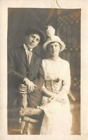 Antique Wedding Portrait RPPC Real Photo Postcard B11