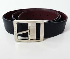 Paul Smith Original Classic Reversible Mens Leather Belt Navy / Burgundy Size 38