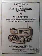 Allis Chalmers Dozer Ac Crawler Tractor Model M Parts Manual M 6663 Up 1939