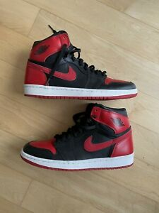 2001 Air Jordan 1 Retro Bred Banned Size 9.5 - 136066 061