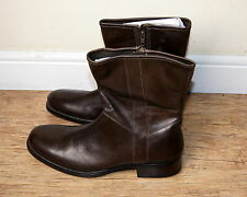 NUOVO & RARO Cole Haan elegante pelle di vitello marrone Big & Tall Boots UK 12 RRP £ 137