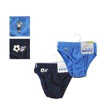Boys Navy & Blue Briefs Underwear Size 5 - 6 Years 2 Packs (2 Pairs )