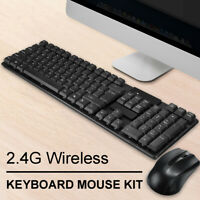 2.4 GHZ Cordless Mouse Wireless Keyboard Set for PC Laptop Desktop Computer DIY