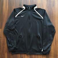 Vintage 90s Nike Jacket Women's Small Full Zip Streetwear Black Swoosh Running