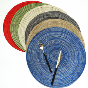 4/6PCS Round Anti-slip Kitchen Placemats Drink Coasters Insulation Pad Table Mat