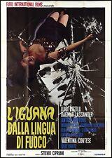 L'IGUANA DALLA LINGUA DI FUOCO MANIFESTO FILM GIALLO FREDA 1970 MOVIE POSTER 4F